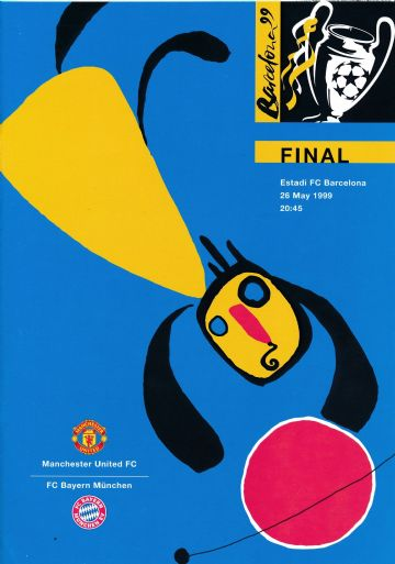 1999 UEFA Champions League Final Manchester United v Bayern Munich - official match programme